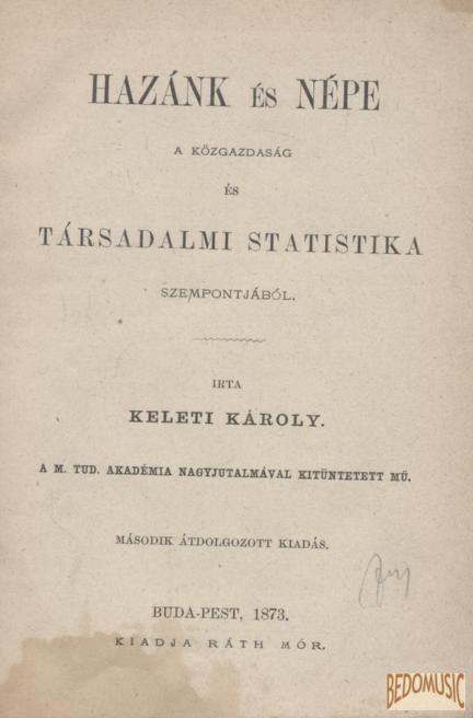 Hazánk és népe a közgazdaság és társadalmi statistika szempontjából