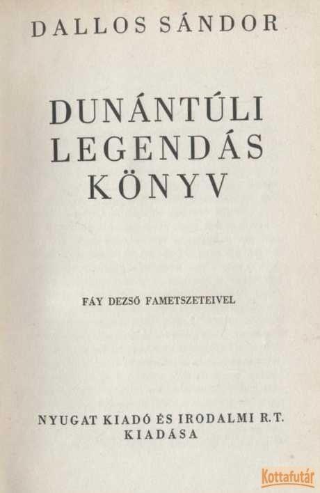 Dunántúli legendáskönyv