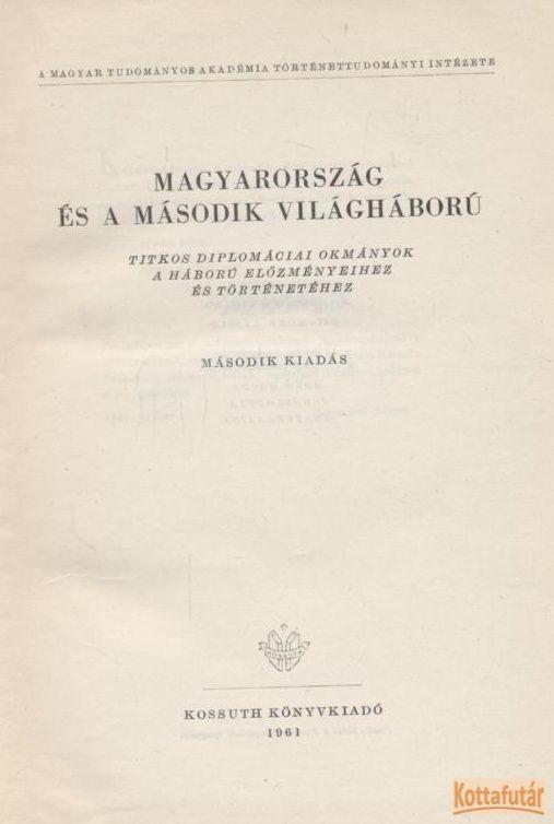 Magyarország és a második világháború