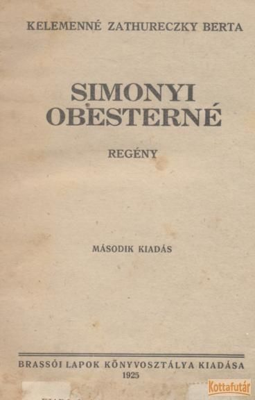 Simonyi obesterné