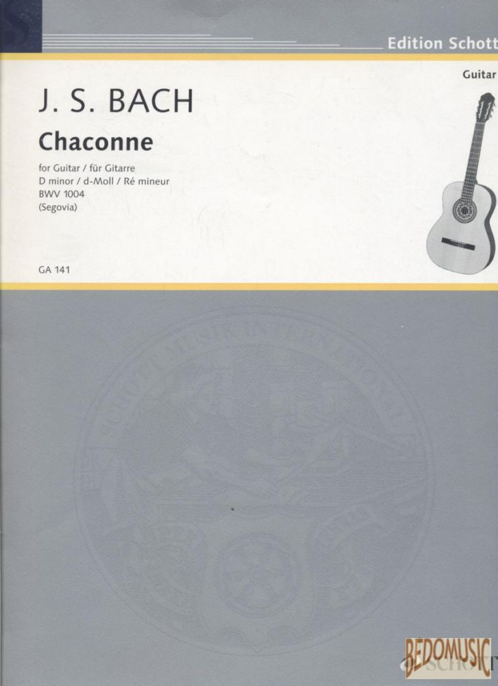 Chaconne for Guitar D minor BWV 1004