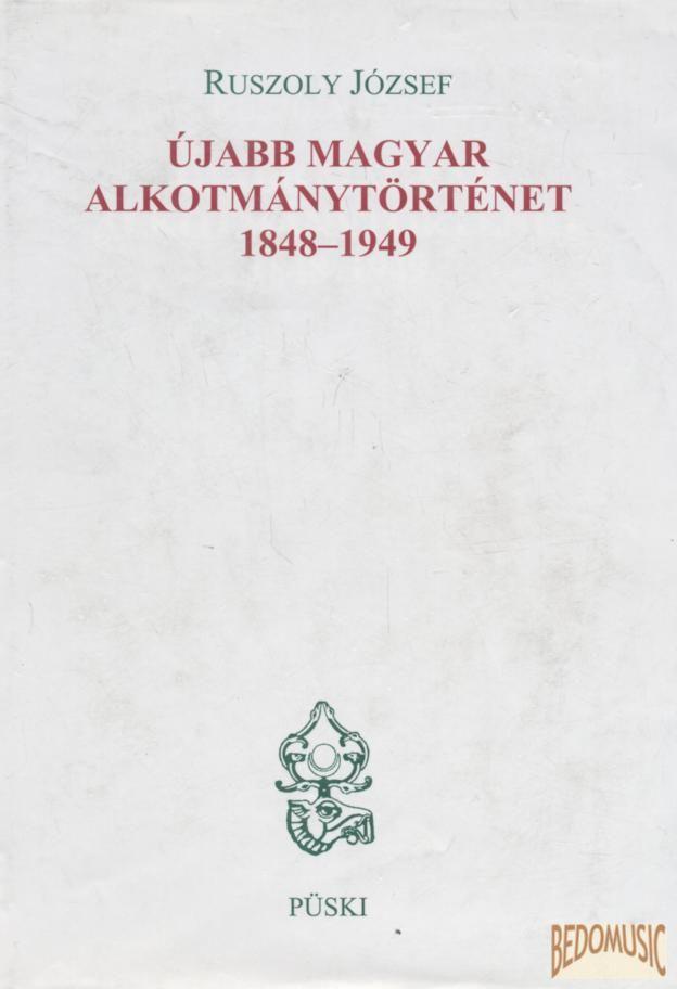 Újabb magyar alkotmánytörténet 1848-1849