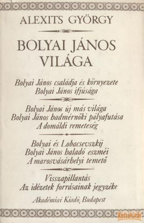Bolyai János világa