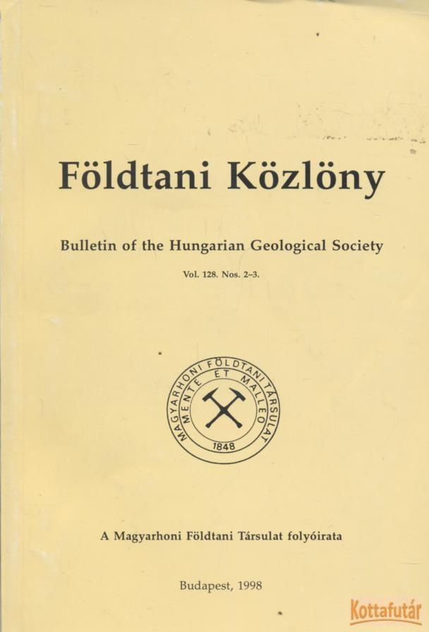 Földtani Közlöny 1988. Vol. 128.