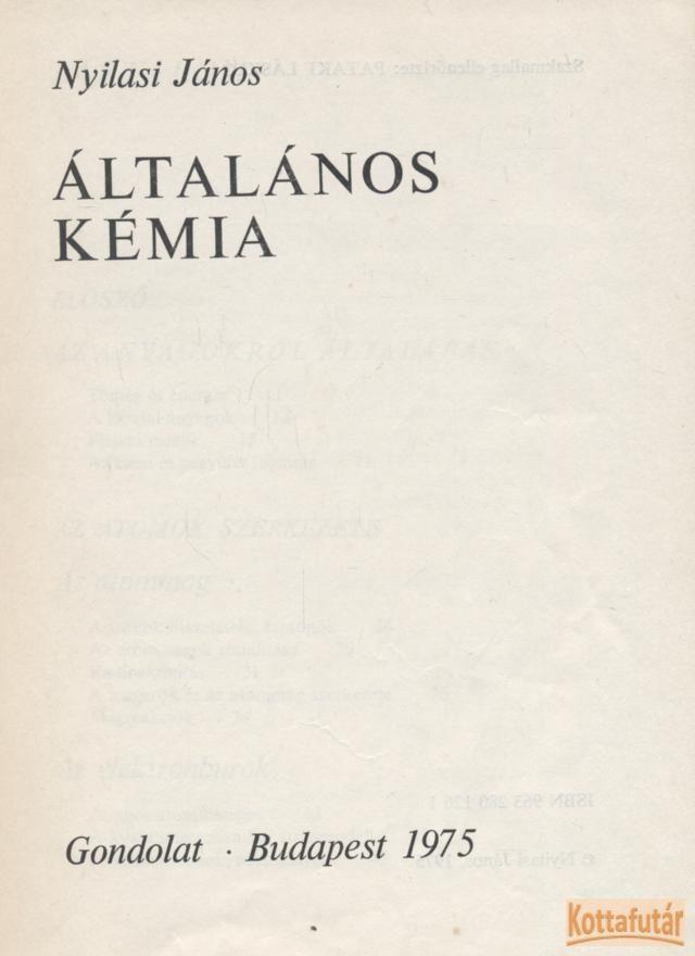 Általános kémia (1975)