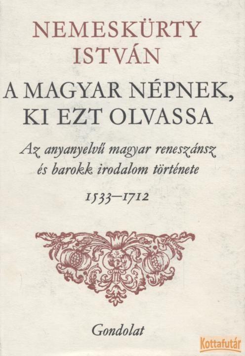 A magyar népnek, ki ezt olvassa