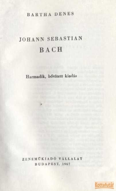 Johann Sebastian Bach (1967)