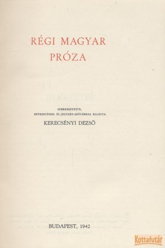 Régi magyar próza