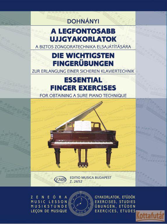A legfontosabb ujjgyakorlatok a biztos zongoratechnika elsajátítására