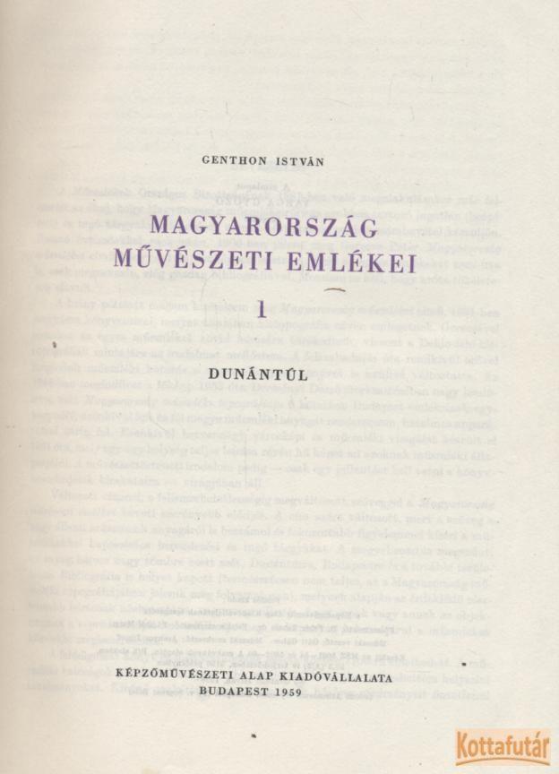 Magyarország művészeti emlékei I.
