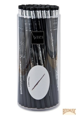 Ceruza, radíros végű, fuvolás mintával