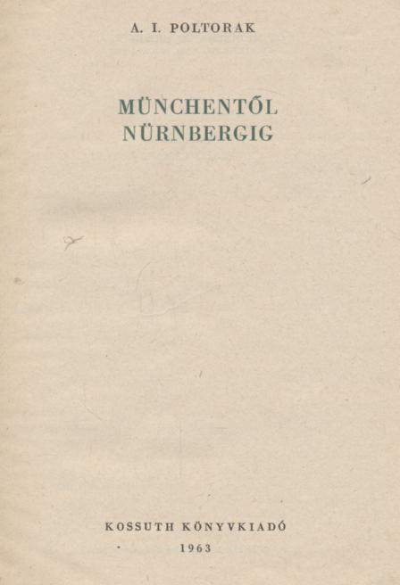 Münchentől Nürnbergig