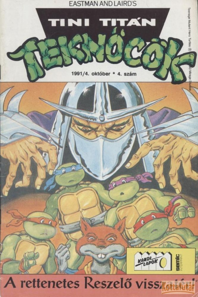 Tini Titán Teknőcök 1991/4. 4. szám