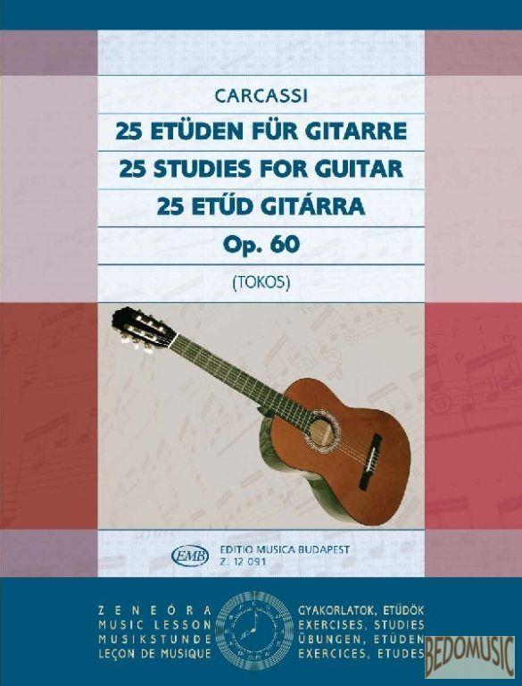 25 etűd gitárra Op. 60