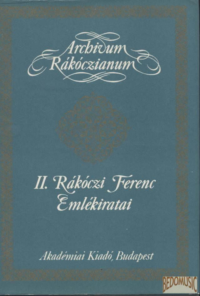 II. Rákóczi Ferenc emlékiratai