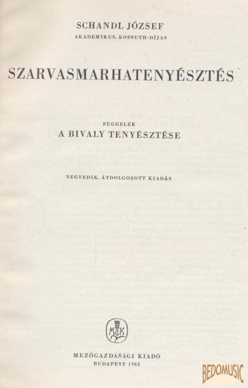 Szarvasmarhatenyésztés (1962)