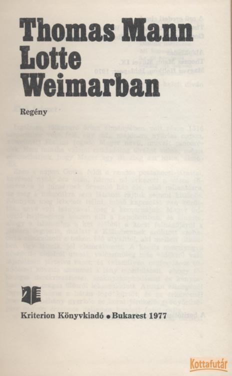 Lotte Weimarban (1977)
