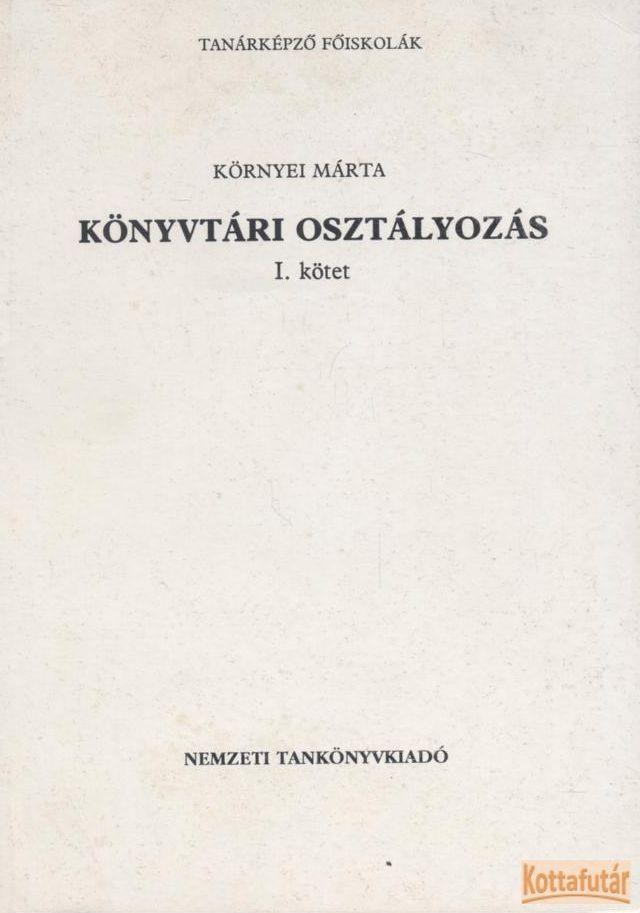 Könyvtári osztályozás I.