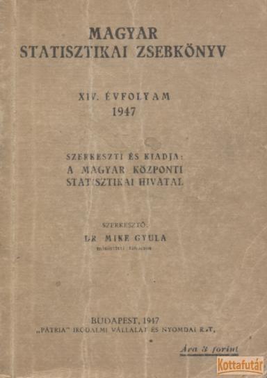 Magyar statisztikai zsebkönyv 1947