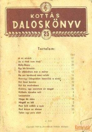 Kottás daloskönyv 25. szám
