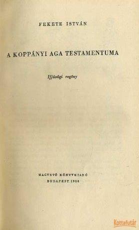 A koppányi aga testamentum (1958)