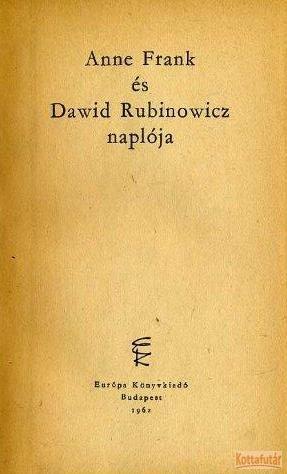 Anne Frank és Dawid Rubinowicz naplója (1962)