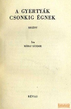 A gyertyák csonkig élnek (1942)