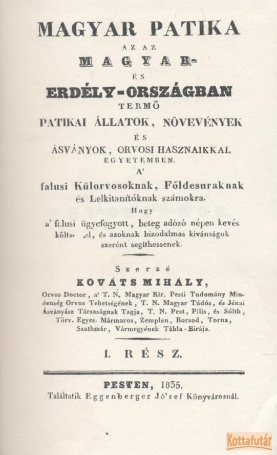 Magyar Patika (reprint)
