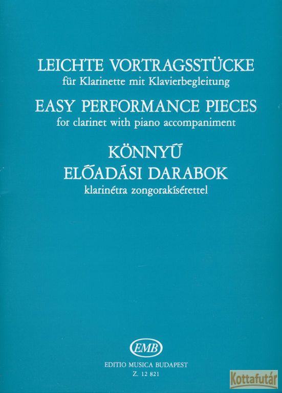 Könnyű előadási darabok klarinétra zongorakísérettel