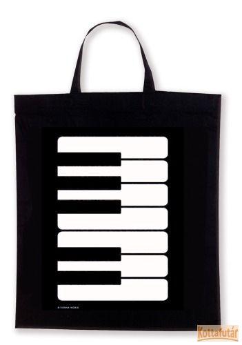 Táska, zongorás mintával