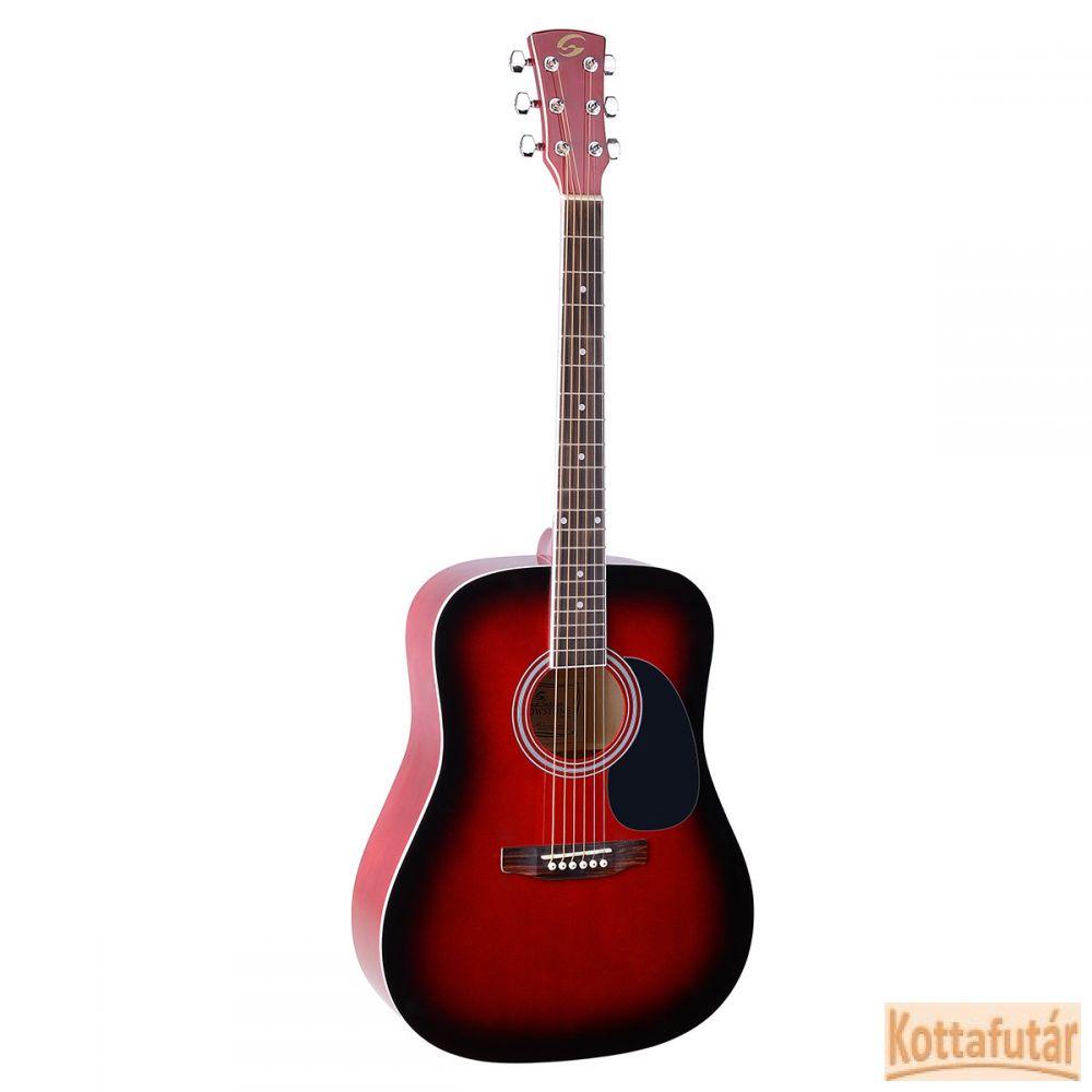 Soundsation Yellowstone DN-RED akusztikus gitár