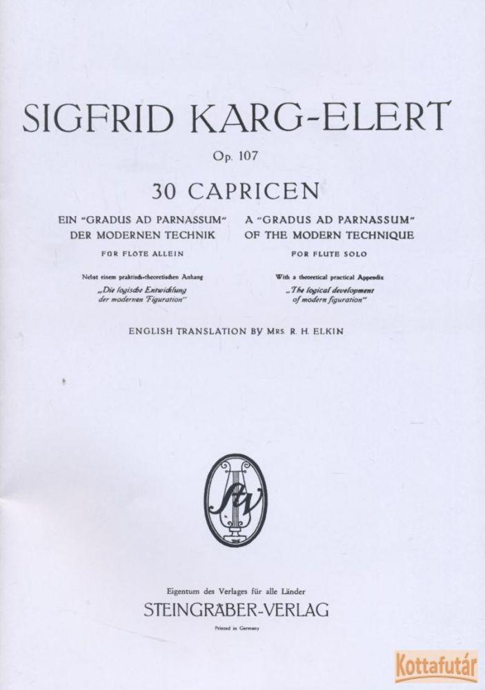 30 Capricen Op. 107