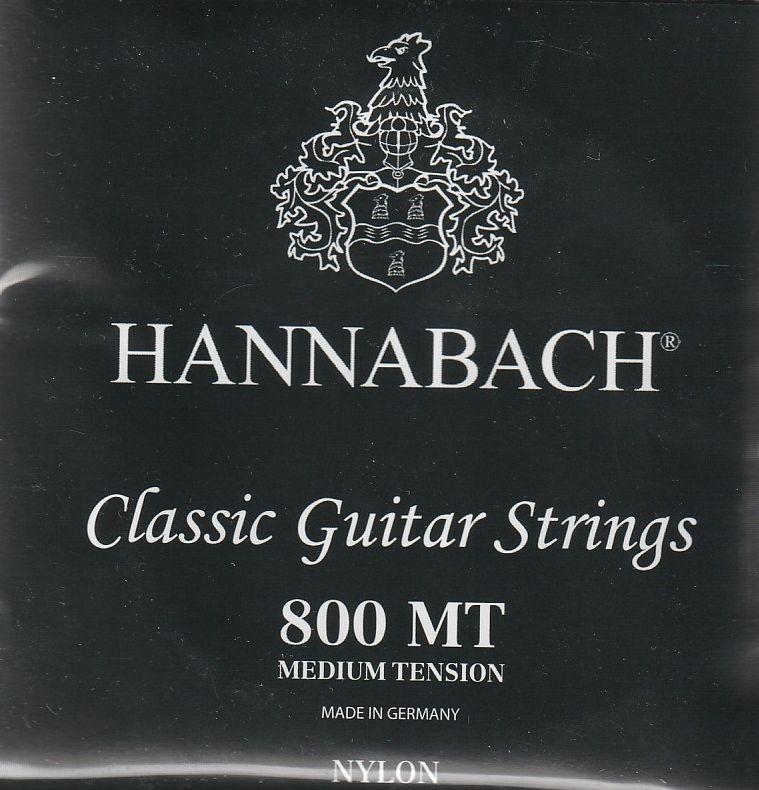 Hannabach 800 black medium tension húrgarnitúra klasszikus gitárhoz