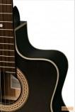La Mancha Perla Negra CWE elektroklasszikus gitár
