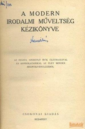 A modern irodalmi műveltség kézikönyve