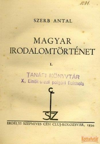 Magyar irodalomtörténet I.