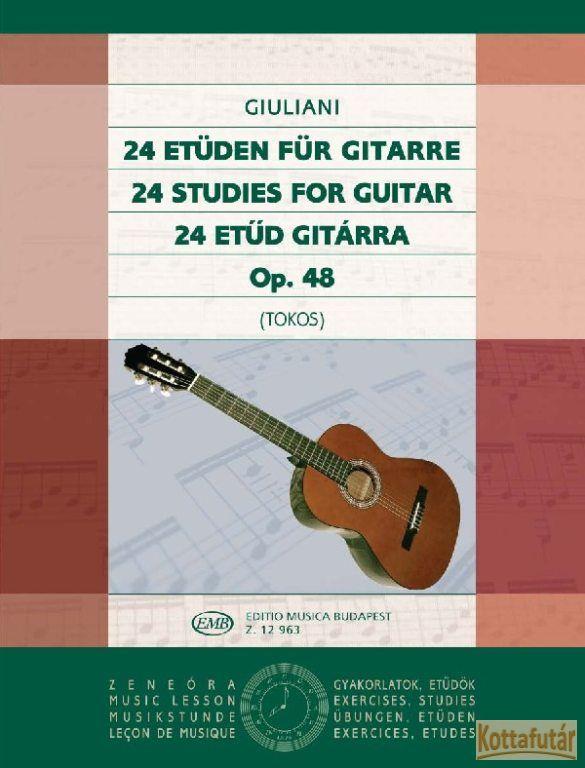 24 etűd gitárra Op.48