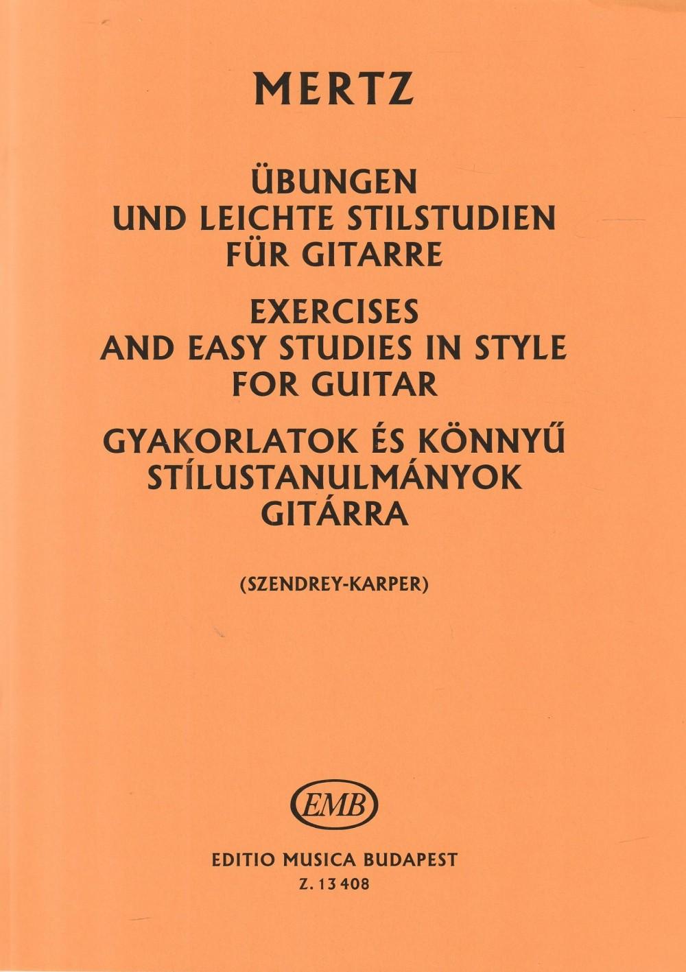 Gyakorlatok és könnyű stílustanulmányok gitárra
