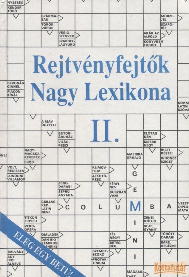Rejtvényfejtők nagy lexikona II.