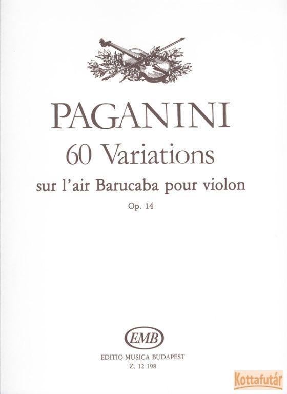 60 Variations sur l'air Barucaba pour violon