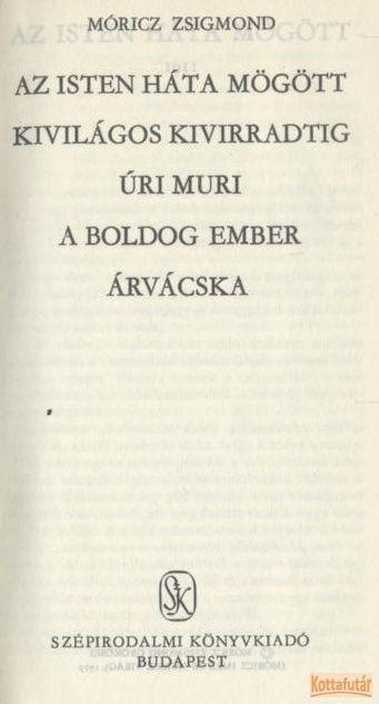 Öt regény (Móricz)