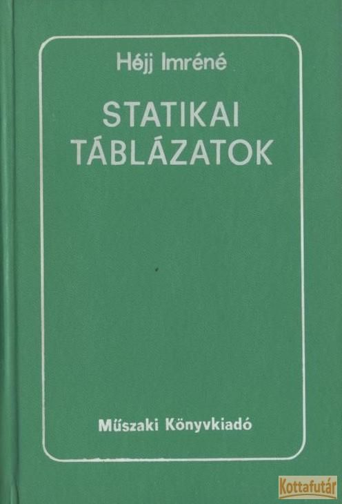 Statikai táblázatok