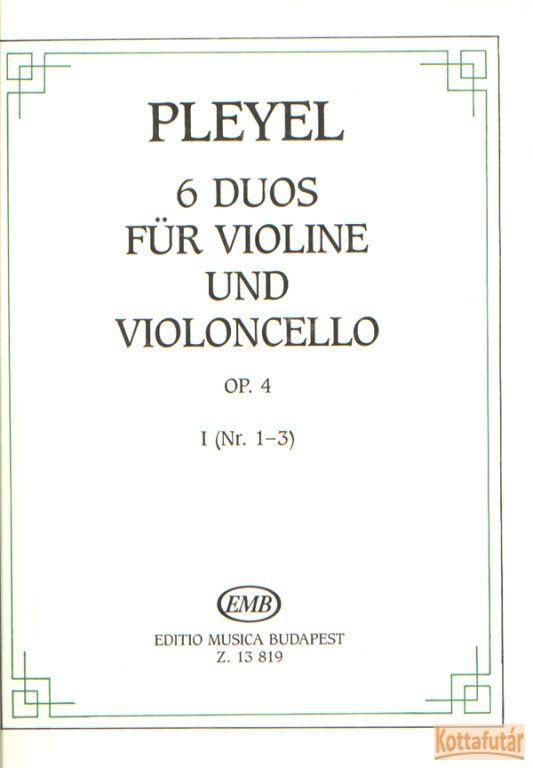 6 duos violine und violoncello Op.4 I.