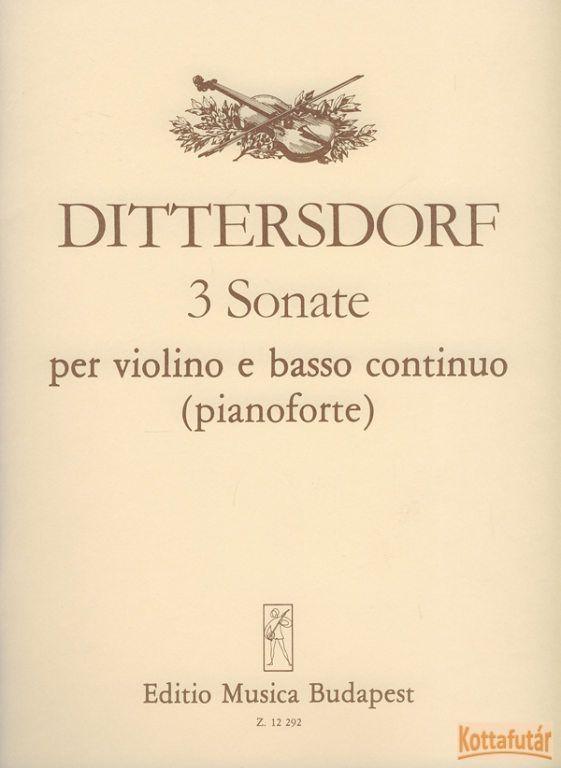 3 Sonate per violino e basso continuo (pianoforte)