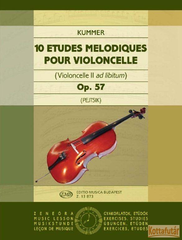 10 etudes melodiques pour violoncelle Op.57