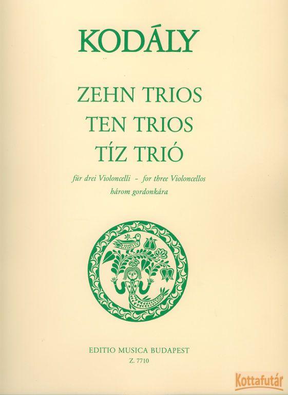 Tíz trió három gordonkára