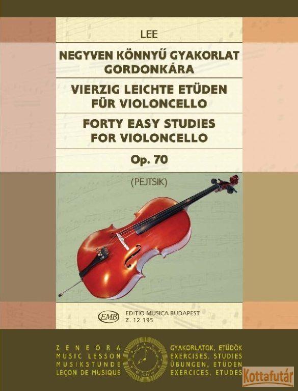 Negyven könnyű gyakorlat gordonkára Op. 70