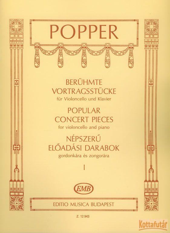 Népszerű előadási darabok gordonkára és zongorára I.