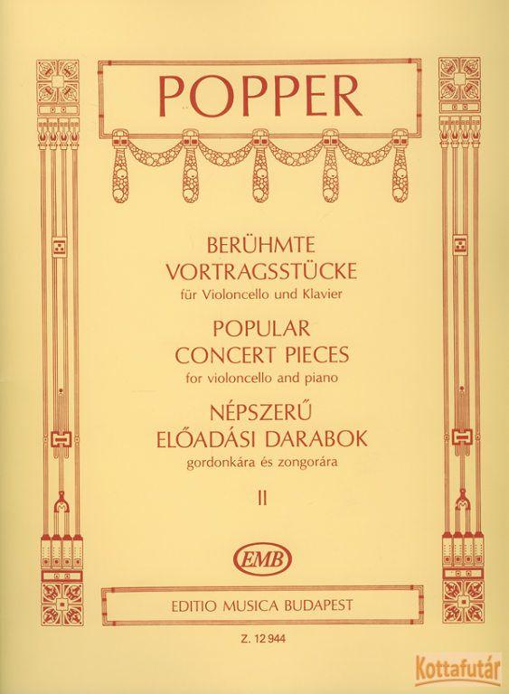 Népszerű előadási darabok gordonkára és zongorára II.