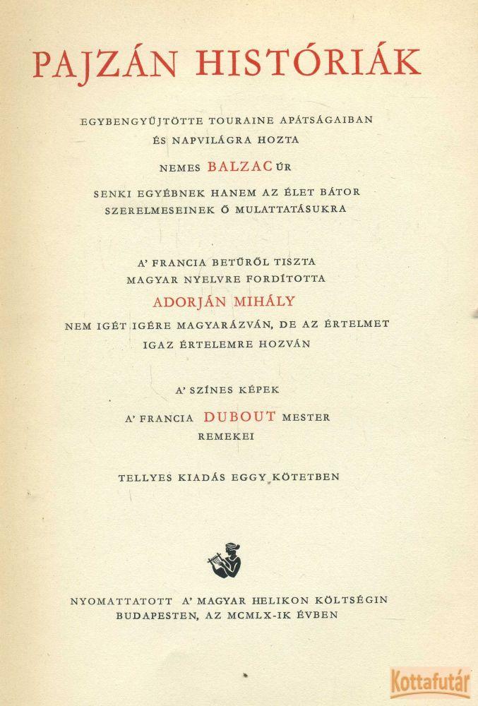 Pajzán históriák (1960)